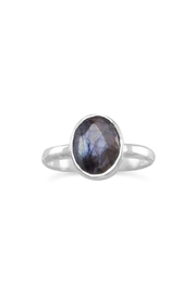 Wild Lilies Jewelry  Labradorite Oval Ring - Front full body