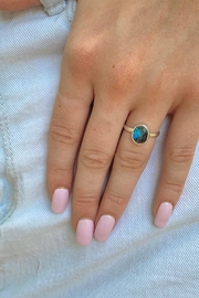 Wild Lilies Jewelry  Labradorite Oval Ring - Front cropped