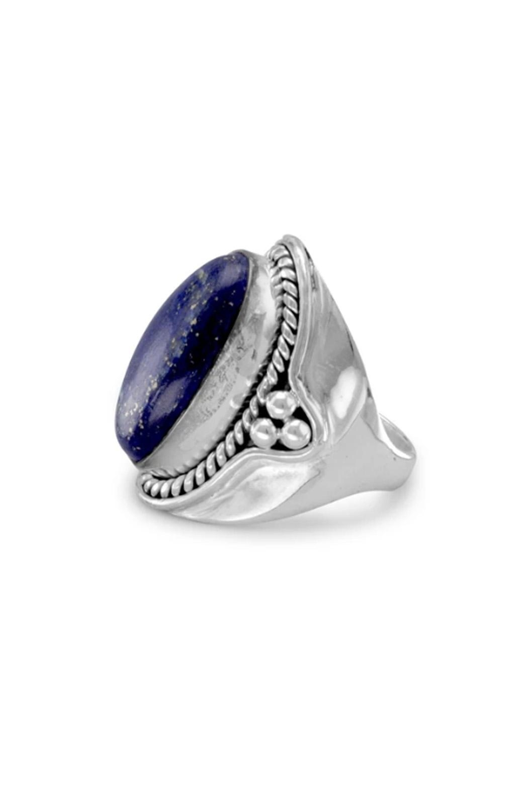 Wild Lilies Jewelry  Lapis Statement Ring - Side Cropped Image