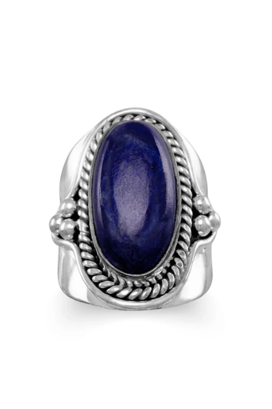 Wild Lilies Jewelry  Lapis Statement Ring - Front Full Image