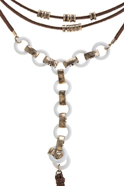 Wild Lilies Jewelry  Lariat Choker Necklace - Front full body