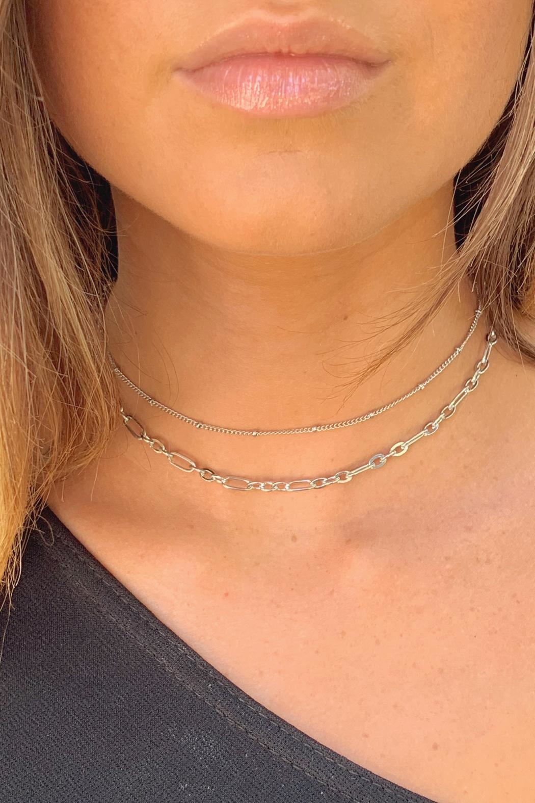 Wild Lilies Jewelry  Layered Chain Necklace - Side Cropped Image