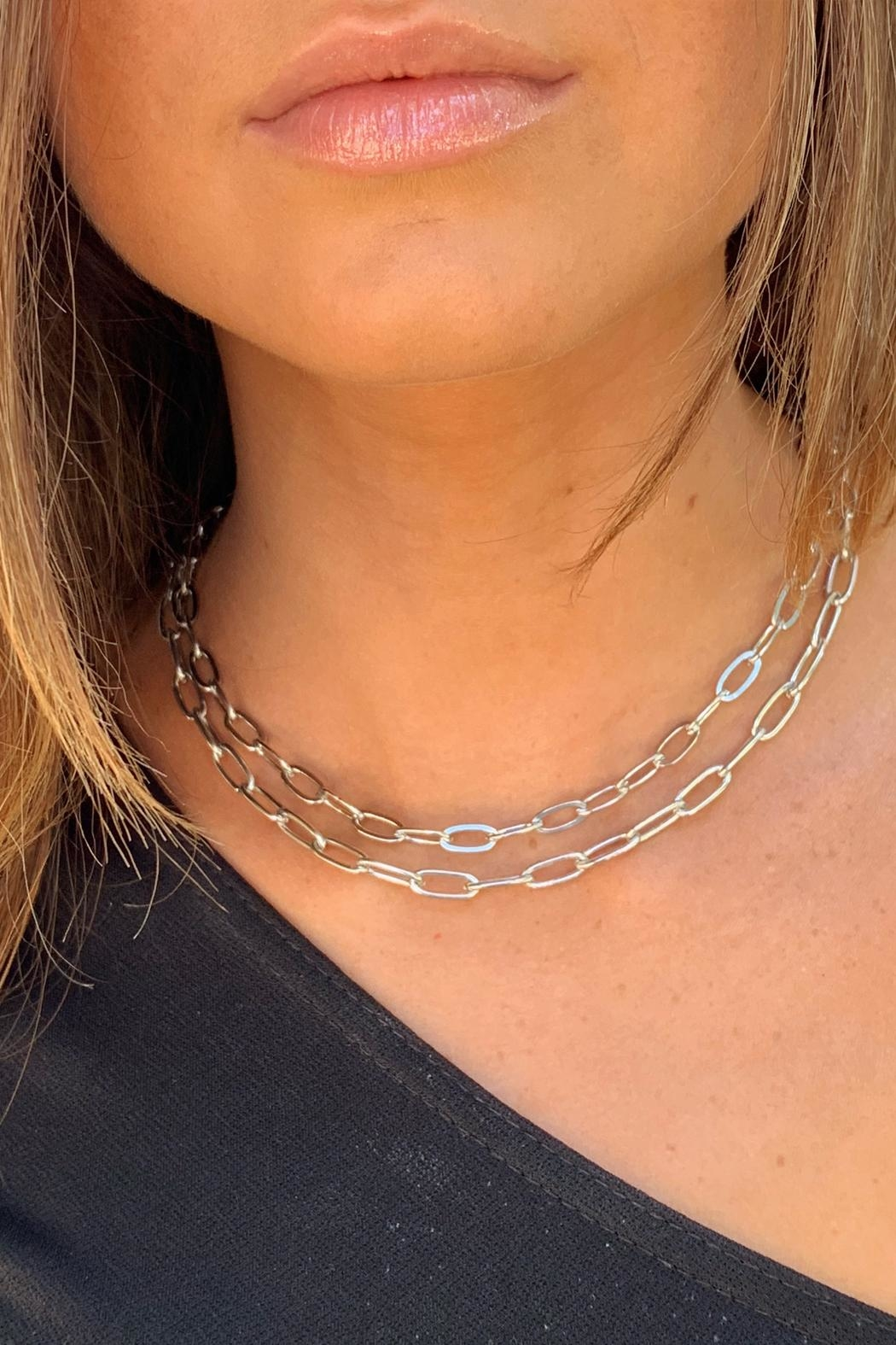 Wild Lilies Jewelry  Layered Chain Necklace - Front Full Image