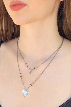 Wild Lilies Jewelry  Layered Heart Necklace - Alternate List Image