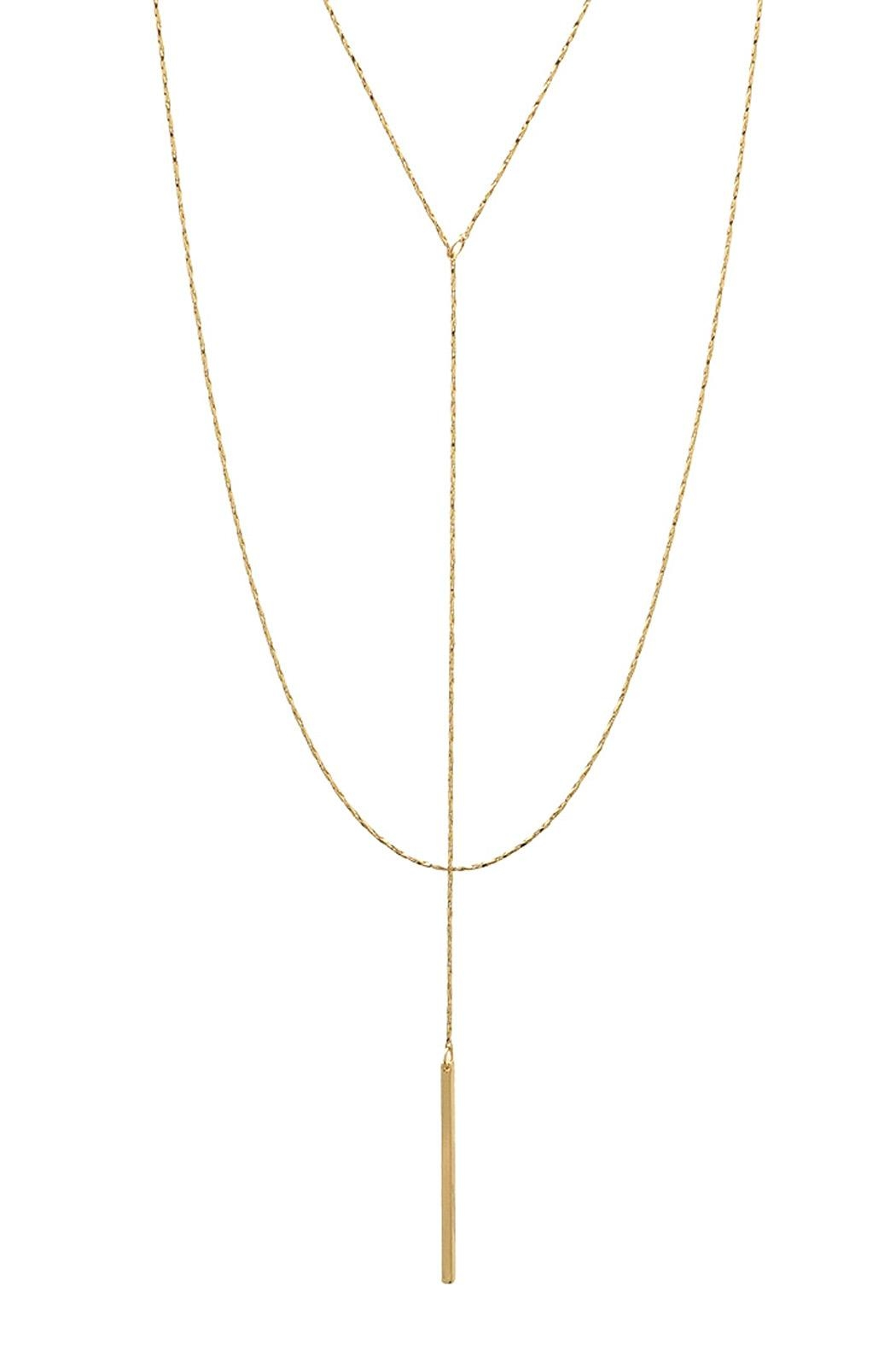 Wild Lilies Jewelry  Layered Lariat Necklace - Main Image