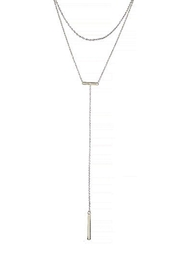 Wild Lilies Jewelry  Layered Lariat Necklace - Front full body