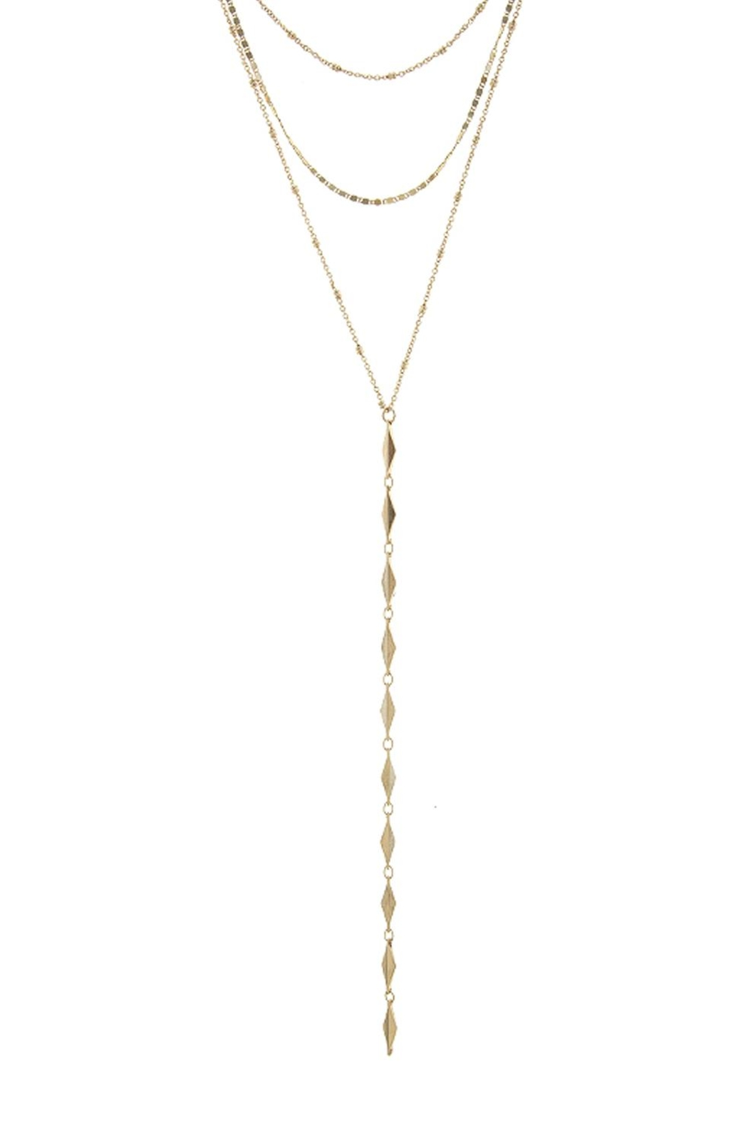 Wild Lilies Jewelry  Layered Lariat Necklace - Front Full Image