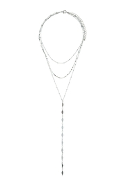 Wild Lilies Jewelry  Layered Lariatt Necklace - Front full body