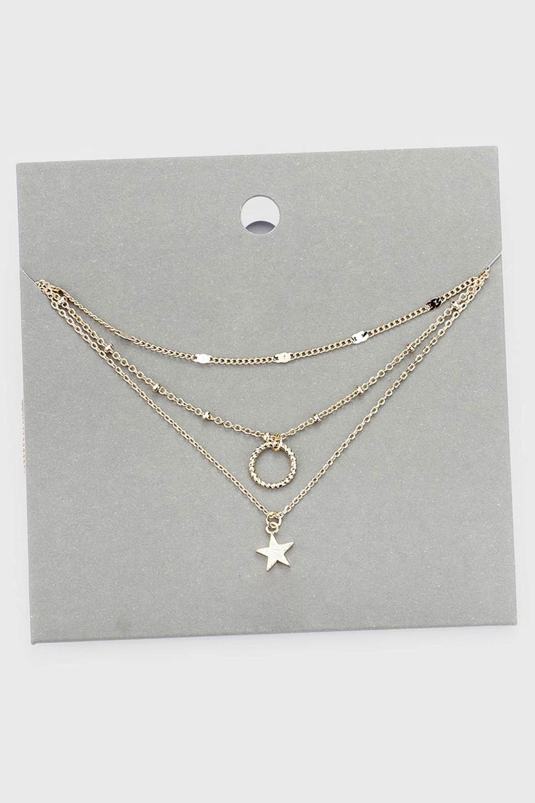 Wild Lilies Jewelry  Layered Star Necklace - Front Full Image