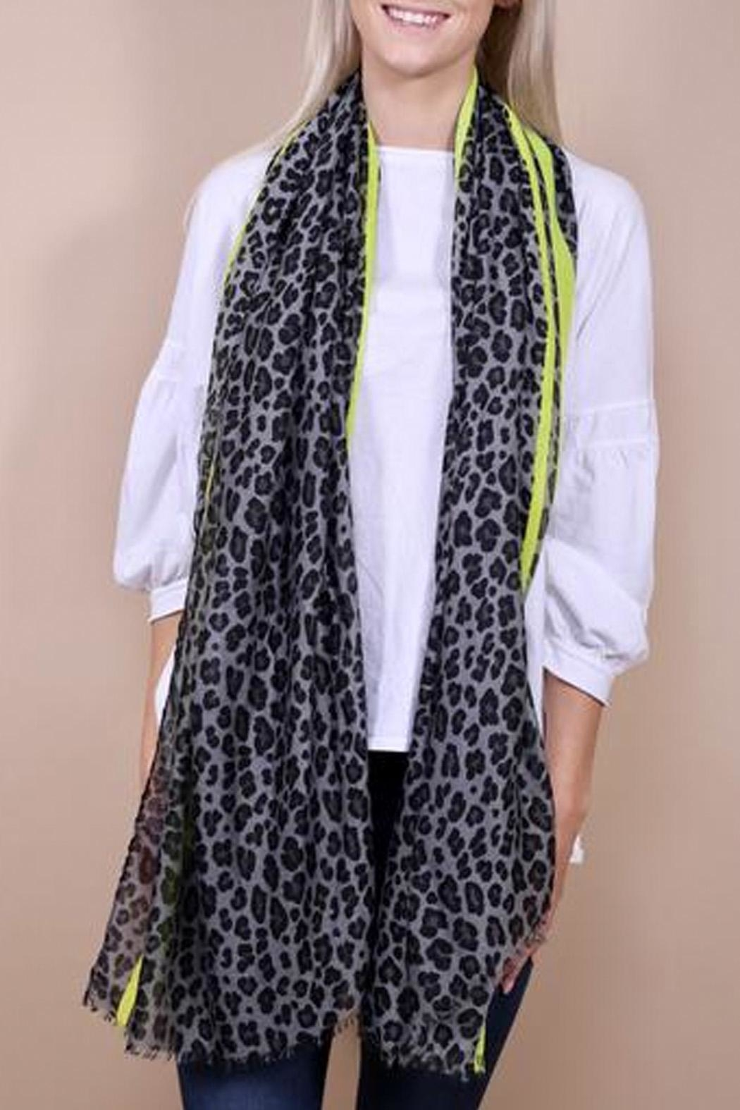Wild Lilies Jewelry  Leopard Print Scarf - Front Cropped Image