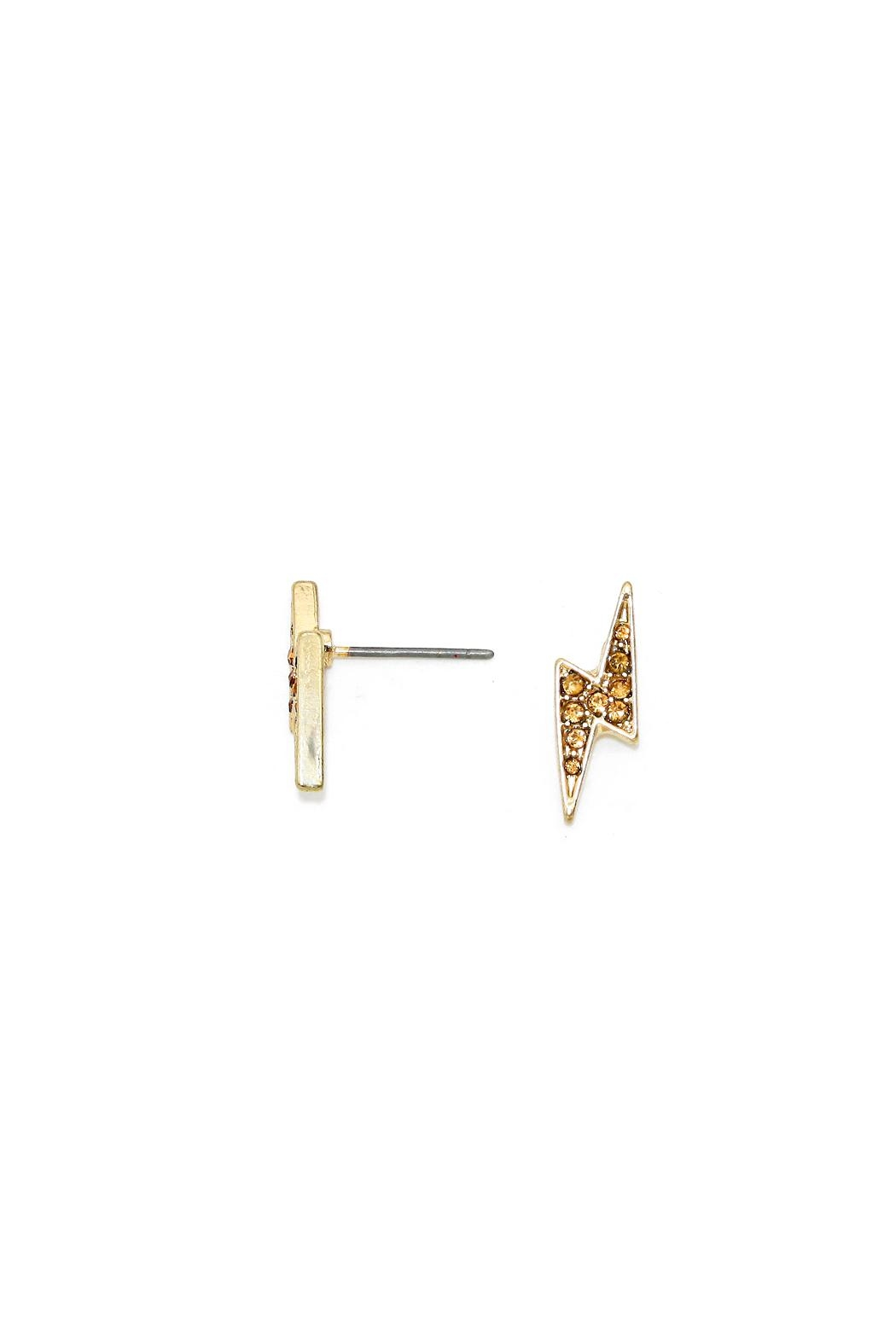 Wild Lilies Jewelry  Lightning Stud Earrings - Front Full Image