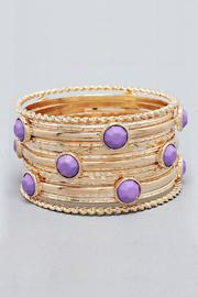 Wild Lilies Jewelry  Lilac Bangle Set - Product Mini Image