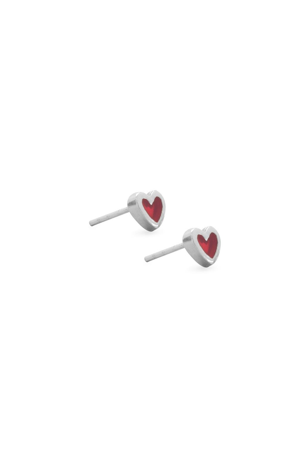 Wild Lilies Jewelry  Little Heart Studs - Front Full Image