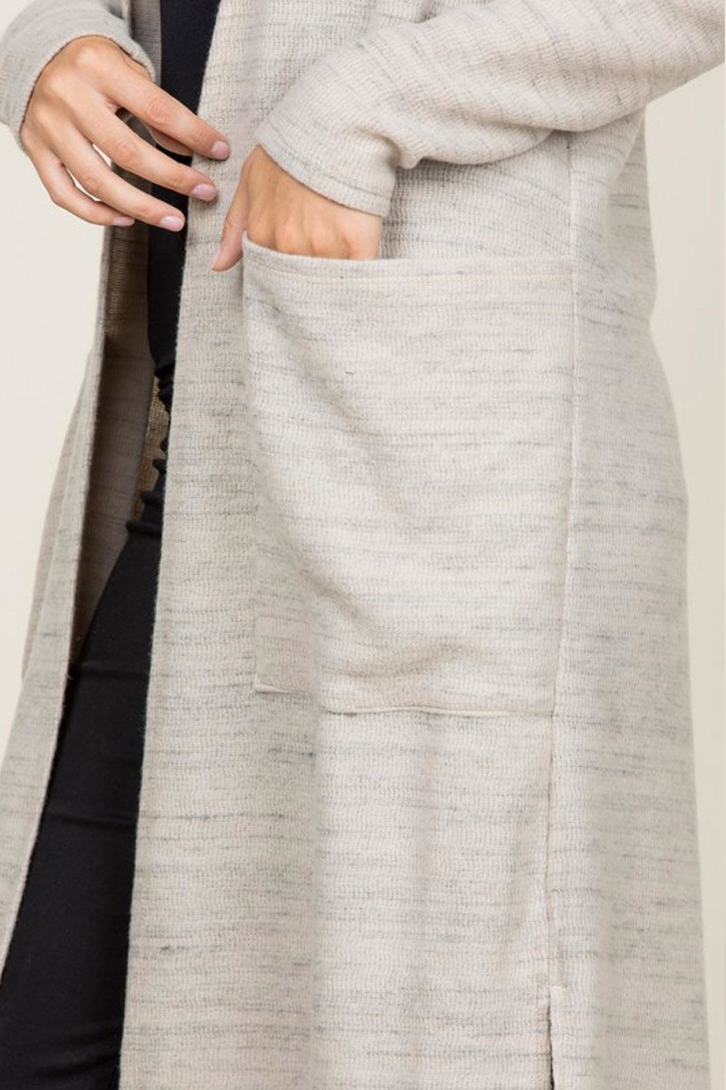 Wild Lilies Jewelry  Long Cardigan Sweater - Side Cropped Image