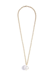 Wild Lilies Jewelry  Long Pearl Necklace - Front full body
