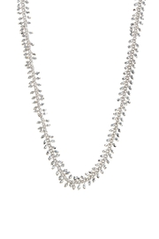 Wild Lilies Jewelry  Long Silver Necklace - Front full body