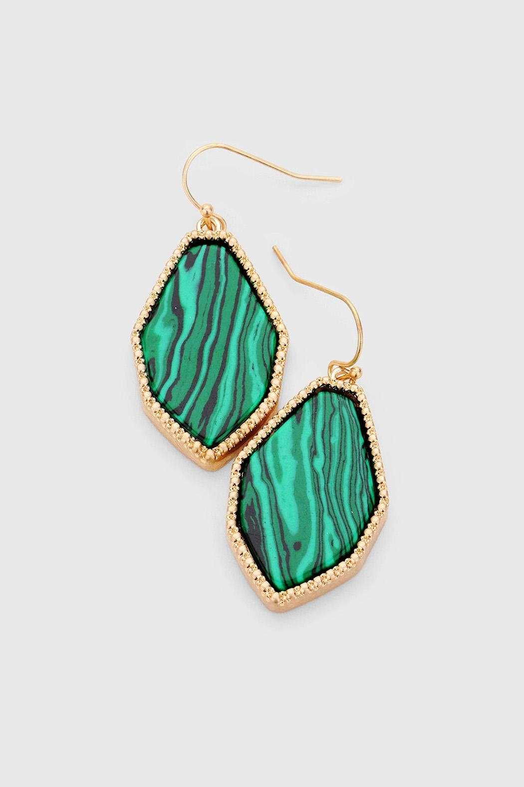 Wild Lilies Jewelry  Malachite Drop Earrings - Main Image