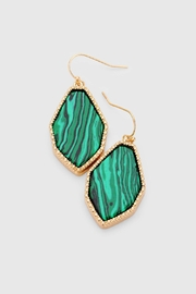 Wild Lilies Jewelry  Malachite Drop Earrings - Front cropped