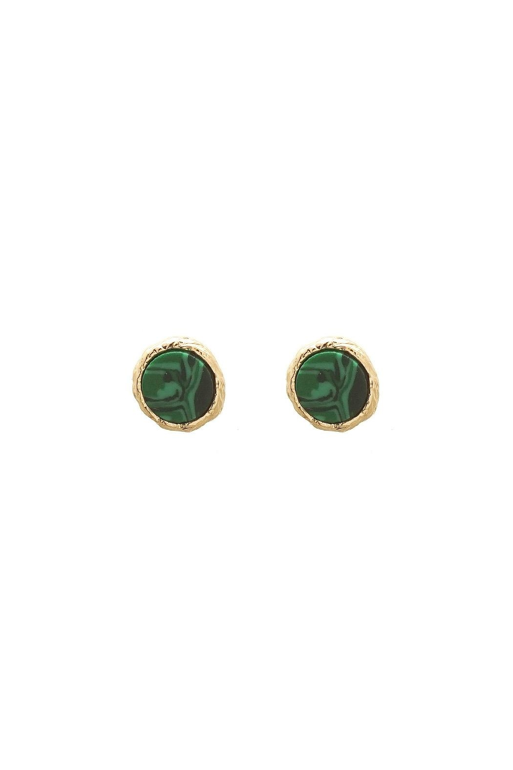 Wild Lilies Jewelry Malachite Stud Earrings Front Cropped Image