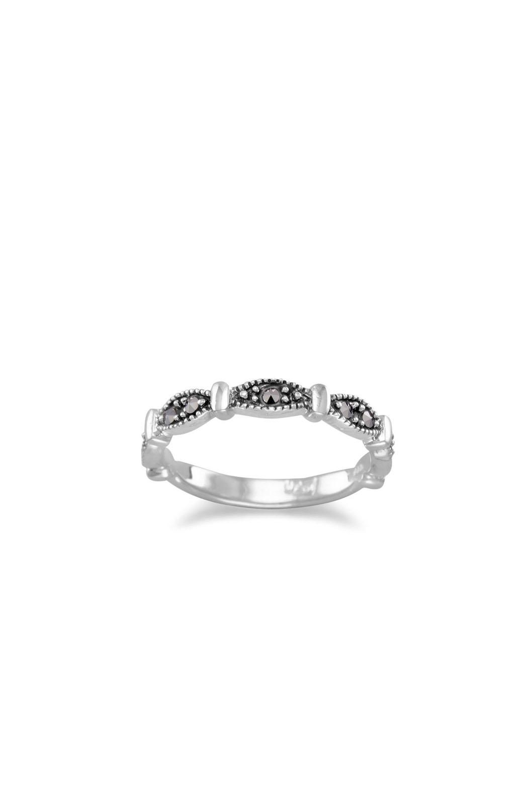 Wild Lilies Jewelry  Marquise Marcasite Band - Main Image