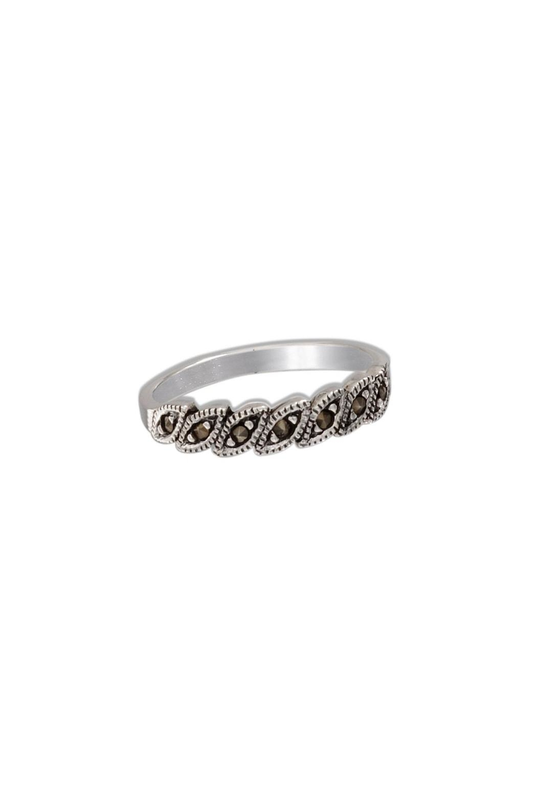 Wild Lilies Jewelry  Marquise Marcasite Ring - Main Image