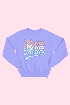 Wild Lilies Jewelry  Merica Lavender Sweatshirt - Alternate List Image
