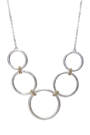 Wild Lilies Jewelry  Metal Rings Necklace - Front full body