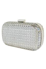 Wild Lilies Jewelry  Metallic Box Clutch - Front cropped