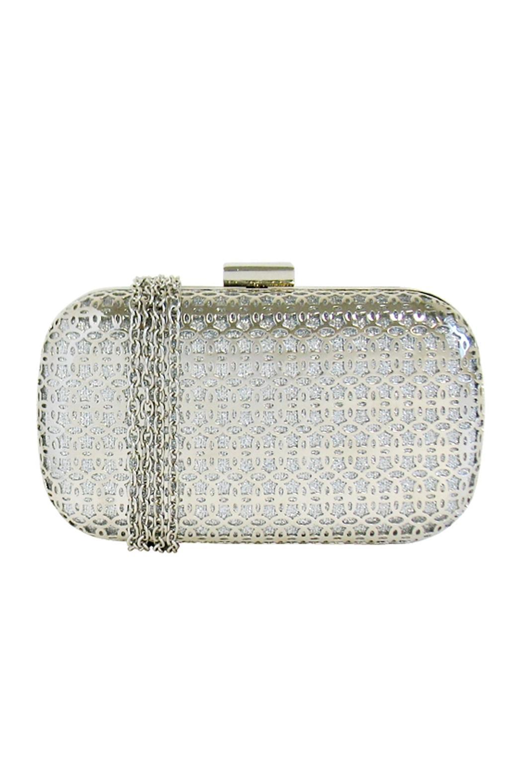 Wild Lilies Jewelry  Metallic Box Clutch - Front Full Image