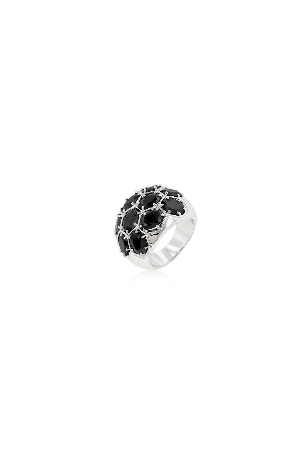 Wild Lilies Jewelry  Midnight Dome Ring - Front Cropped Image