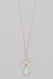 Wild Lilies Jewelry  Mint Geometric Necklace - Front full body