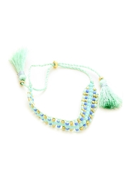 Wild Lilies Jewelry  Mint Tassel Bracelet - Product Mini Image