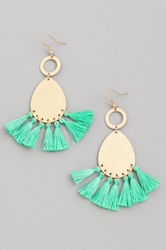 Wild Lilies Jewelry  Mint Tassel Earrings - Alternate List Image