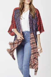 Wild Lilies Jewelry  Mixed Plaid Kimono - Product Mini Image