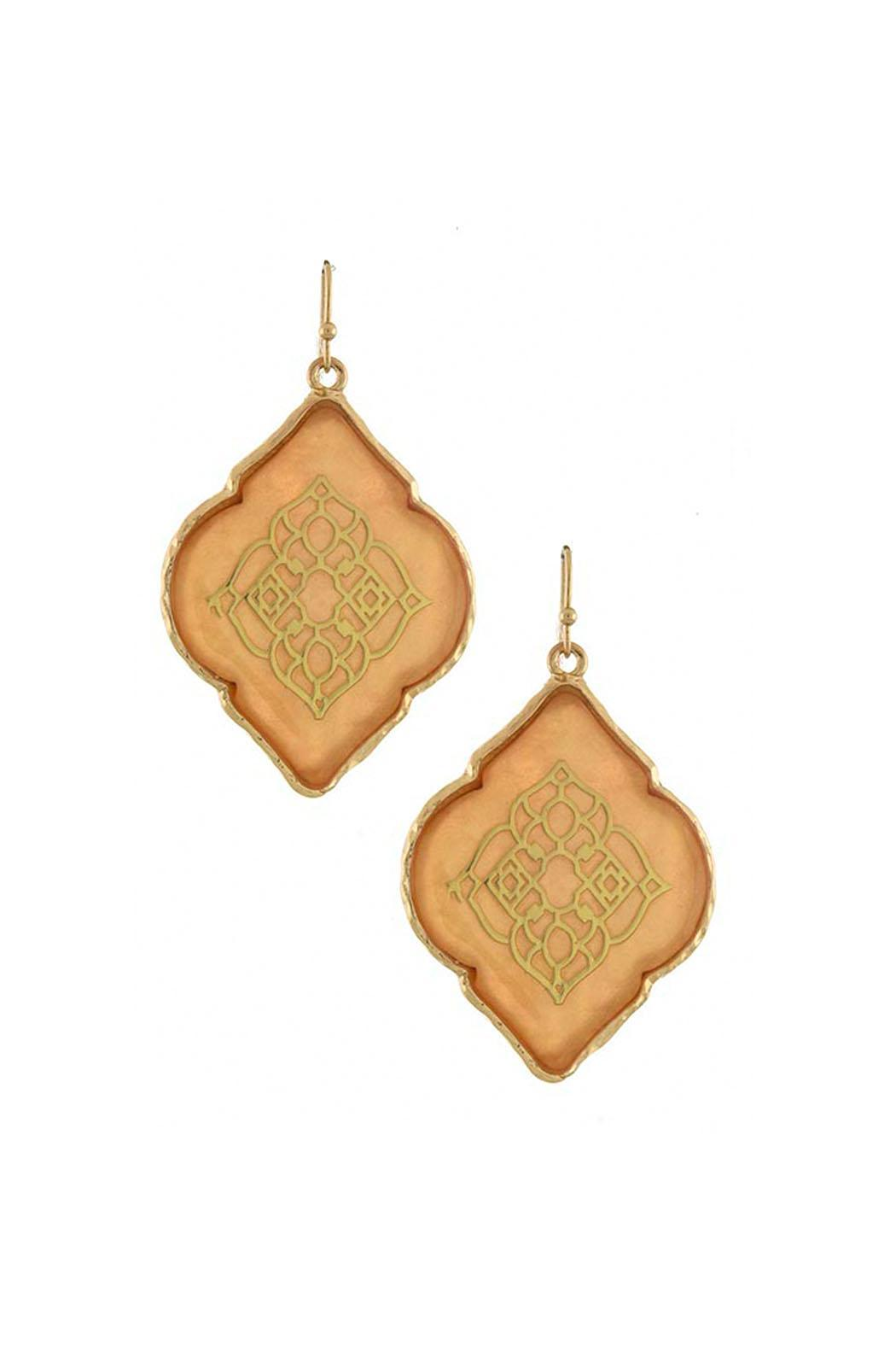 Wild Lilies Jewelry  Moroccan Peach Earrings - Front Cropped Image