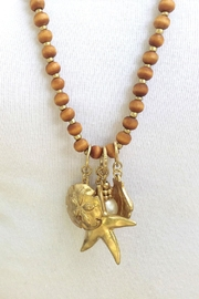 Wild Lilies Jewelry  Nautical Charm Necklace - Front full body