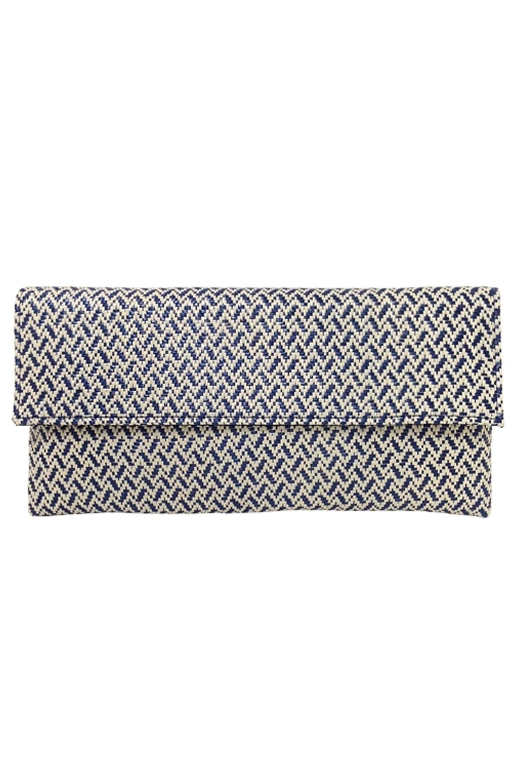 Wild Lilies Jewelry  Navy Chevron Clutch - Main Image