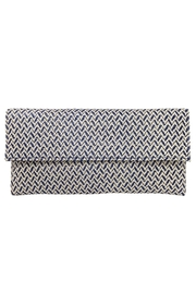 Wild Lilies Jewelry  Navy Chevron Clutch - Front cropped