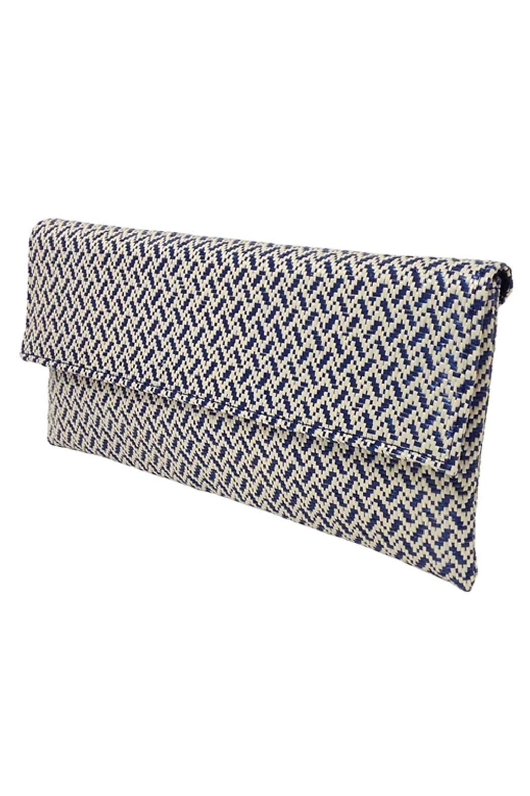Wild Lilies Jewelry  Navy Chevron Clutch - Front Full Image