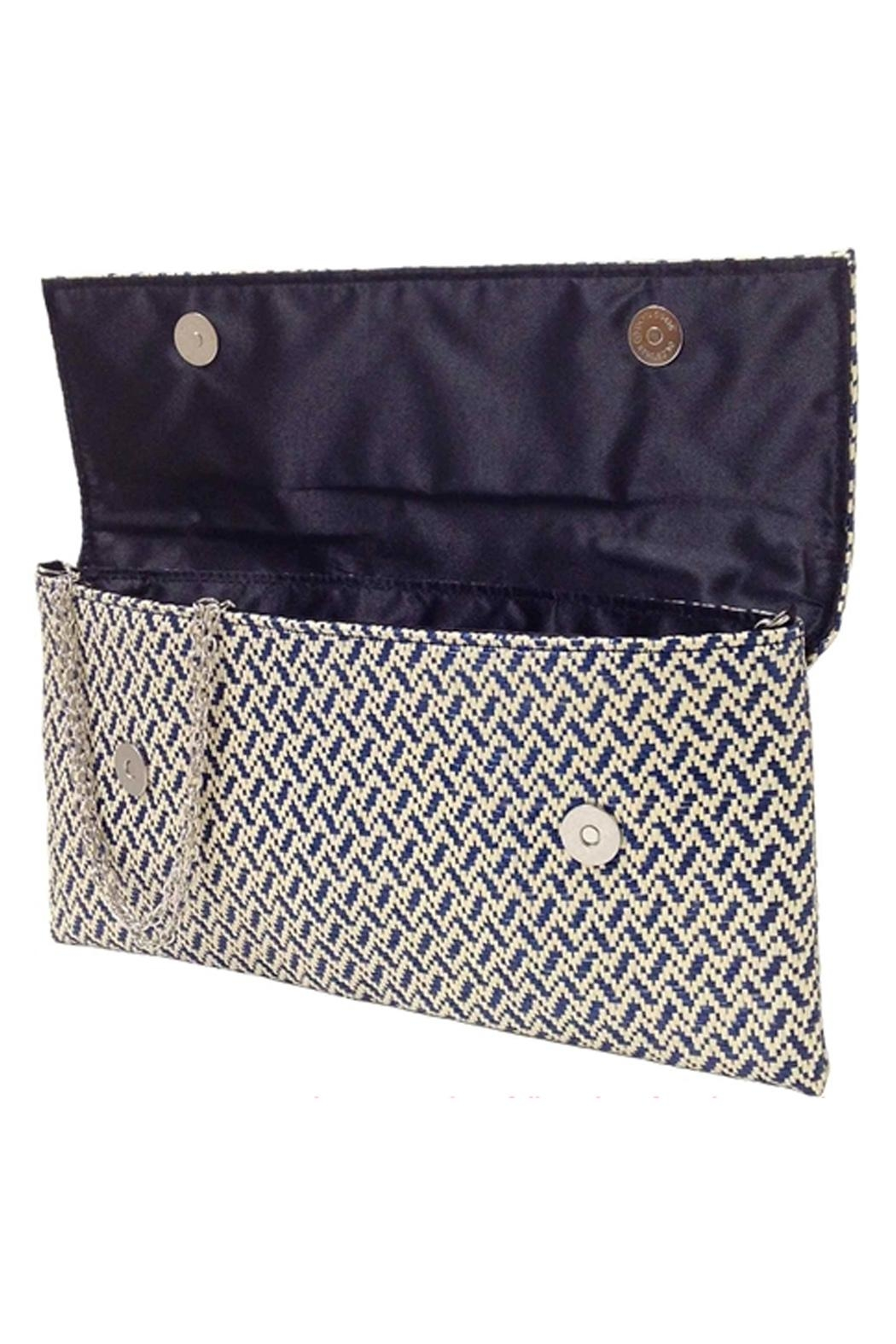 Wild Lilies Jewelry  Navy Chevron Clutch - Side Cropped Image