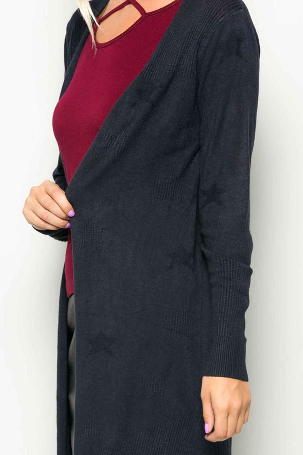 Wild Lilies Jewelry  Navy Star Cardigan - Front Full Image