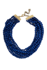 Wild Lilies Jewelry  Navy Statement Necklace - Front full body