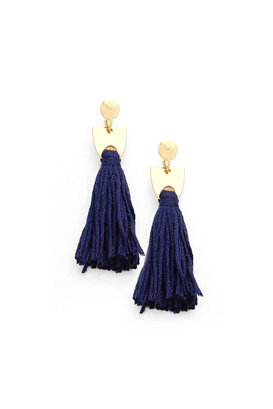 Wild Lilies Jewelry  Navy Tassel Earrings - Main Image