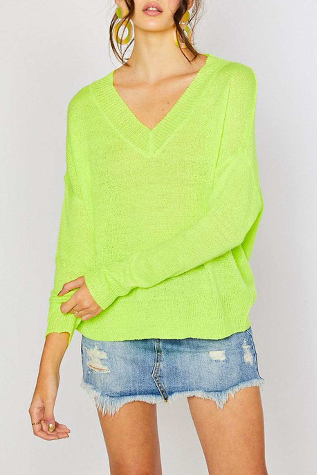 Wild Lilies Jewelry  Neon Yellow Sweater - Side Cropped Image