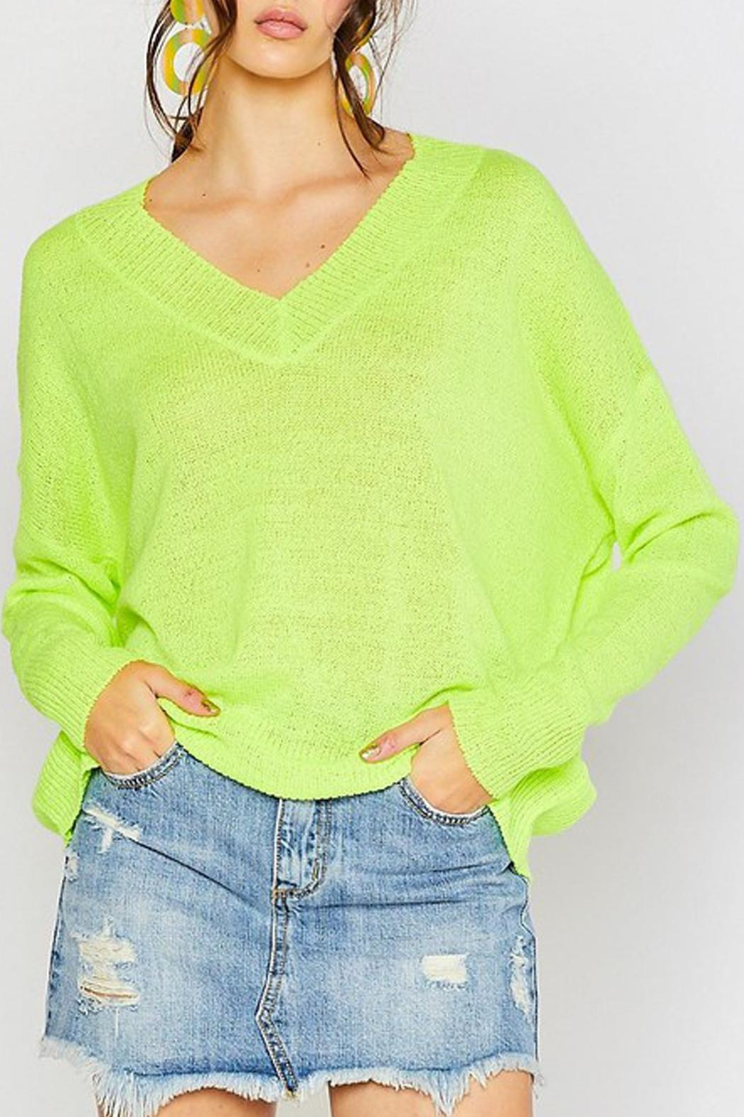 Wild Lilies Jewelry  Neon Yellow Sweater - Front Full Image