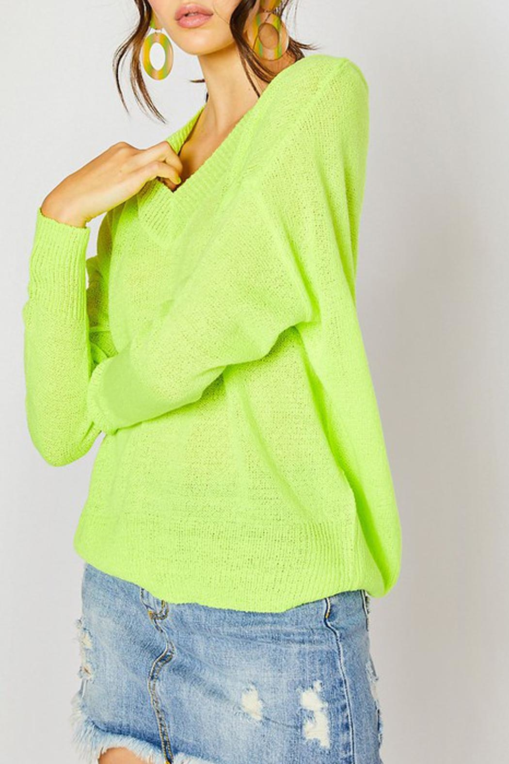 Wild Lilies Jewelry  Neon Yellow Sweater - Main Image