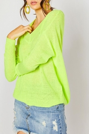 Wild Lilies Jewelry  Neon Yellow Sweater - Front cropped