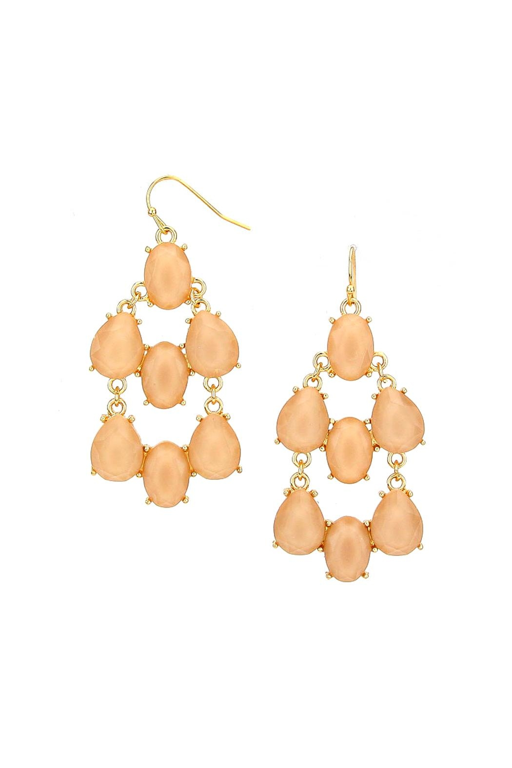 Wild Lilies Jewelry  Neutral Statement Earrings - Main Image