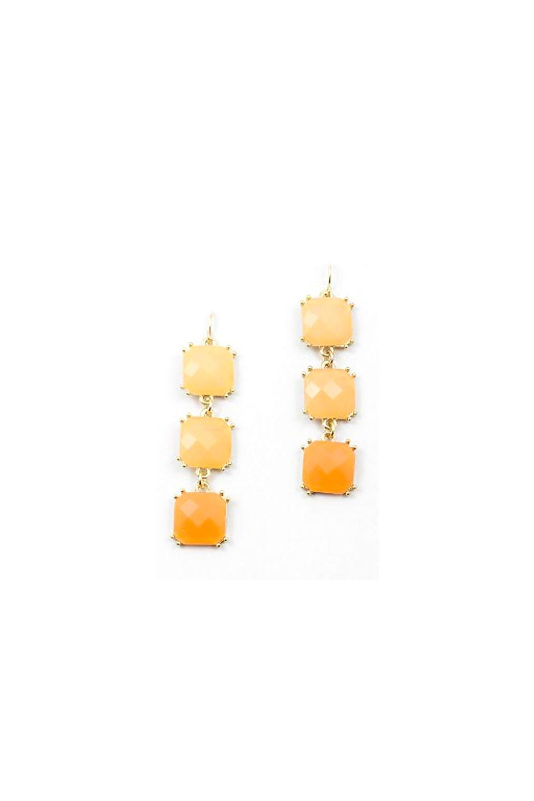 Wild Lilies Jewelry  Ombre Peach Earrings - Main Image