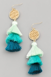 Wild Lilies Jewelry  Ombre Tassel Earrings - Product Mini Image